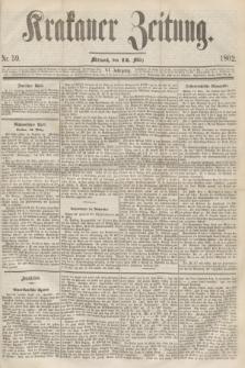 Krakauer Zeitung.Jg.6, Nr. 59 (12 März 1862)