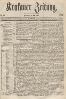 Krakauer Zeitung.Jg.6, Nr. 89 (17 April 1862)