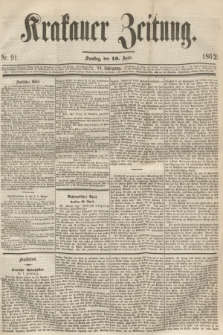 Krakauer Zeitung.Jg.6, Nr. 91 (19 April 1862)