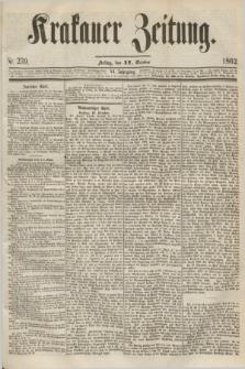 Krakauer Zeitung.Jg.6, Nr. 239 (17 October 1862)
