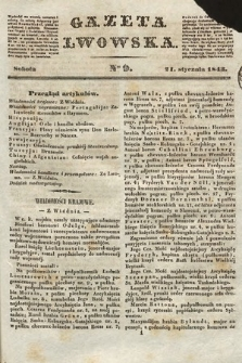 Gazeta Lwowska. 1843, nr 9