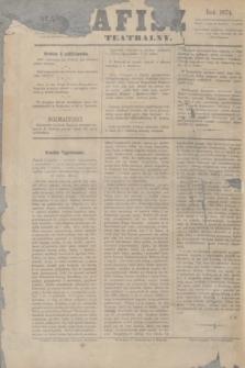 Afisz Teatralny.R.4, nr 1 (3 października 1874) + dod.