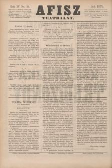 Afisz Teatralny.R.4, nr 94 (13 marca 1875) + dod.