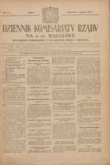 Dziennik Komisarjatu Rządu na M. St. Warszawę.R.2, № 4 (7 stycznia 1921) = № 41