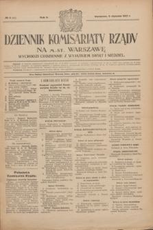 Dziennik Komisarjatu Rządu na M. St. Warszawę.R.2, № 5 (8 stycznia 1921) = № 42