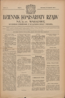Dziennik Komisarjatu Rządu na M. St. Warszawę.R.2, № 6 (10 stycznia 1921) = № 43