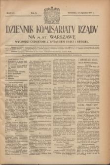 Dziennik Komisarjatu Rządu na M. St. Warszawę.R.2, № 17 (22 stycznia 1921) = № 54