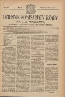 Dziennik Komisarjatu Rządu na M. St. Warszawę.R.2, № 21 (27 stycznia 1921) = № 58
