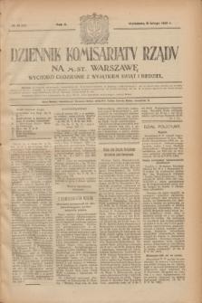 Dziennik Komisarjatu Rządu na M. St. Warszawę.R.2, № 31 (9 lutego 1921) = № 68
