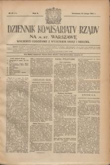 Dziennik Komisarjatu Rządu na M. St. Warszawę.R.2, № 37 (16 lutego 1921) = № 74