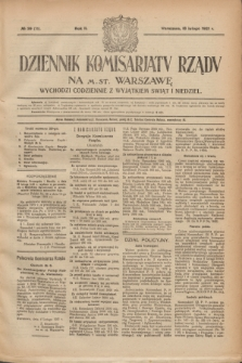 Dziennik Komisarjatu Rządu na M. St. Warszawę.R.2, № 39 (18 lutego 1921) = № 76