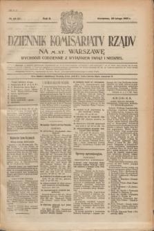 Dziennik Komisarjatu Rządu na M. St. Warszawę.R.2, nr 48 (28 lutego 1921) = nr