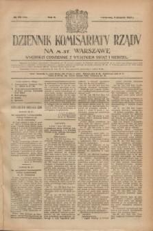 Dziennik Komisarjatu Rządu na M. St. Warszawę.R.2, № 173 (4 sierpnia 1921) = № 300