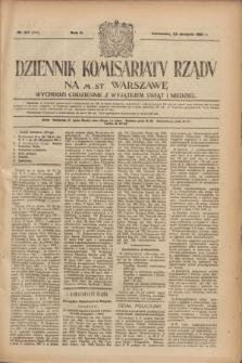 Dziennik Komisarjatu Rządu na M. St. Warszawę.R.2, № 187 (22 sierpnia 1921) = № 314
