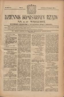 Dziennik Komisarjatu Rządu na M. St. Warszawę.R.2, № 188 (23 sierpnia 1921) = № 315