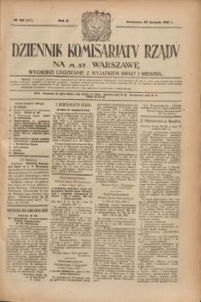 Dziennik Komisarjatu Rządu na M. St. Warszawę.R.2, № 190 (25 sierpnia 1921) = № 317