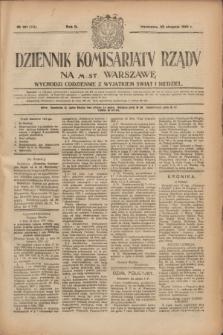 Dziennik Komisarjatu Rządu na M. St. Warszawę.R.2, № 191 (26 sierpnia 1921) = № 319
