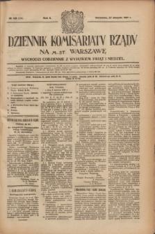 Dziennik Komisarjatu Rządu na M. St. Warszawę.R.2, № 192 (27 sierpnia 1921) = № 319