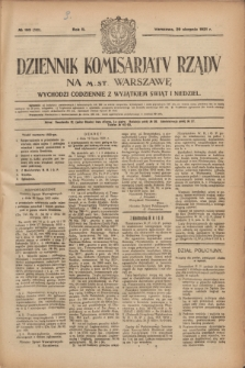 Dziennik Komisarjatu Rządu na M. St. Warszawę.R.2, № 193 (29 sierpnia 1921) = № 320