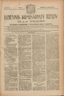 Dziennik Komisarjatu Rządu na M. St. Warszawę.R.2, № 197 (2 września 1921) = № 324