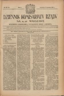 Dziennik Komisarjatu Rządu na M. St. Warszawę.R.2, № 198 (3 września 1921) = № 325