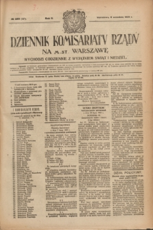 Dziennik Komisarjatu Rządu na M. St. Warszawę.R.2, № 200 (6 września 1921) = № 327