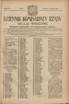 Dziennik Komisarjatu Rządu na M. St. Warszawę.R.2, № 201 (7 września 1921) = № 328