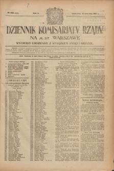 Dziennik Komisarjatu Rządu na M. St. Warszawę.R.2, № 206 (14 września 1921) = № 333