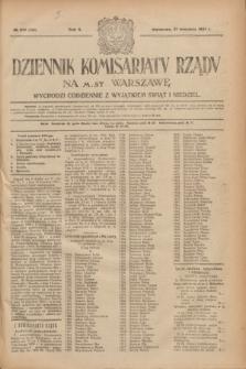 Dziennik Komisarjatu Rządu na M. St. Warszawę.R.2, № 212 (21 września 1921) = № 339