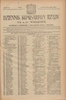 Dziennik Komisarjatu Rządu na M. St. Warszawę.R.2, № 213 (22 września 1921) = № 340