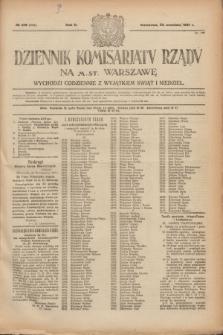 Dziennik Komisarjatu Rządu na M. St. Warszawę.R.2, № 216 (26 września 1921) = № 343