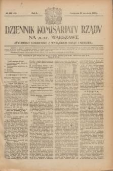 Dziennik Komisarjatu Rządu na M. St. Warszawę.R.2, № 219 (29 września 1921) = № 346