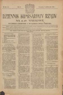 Dziennik Komisarjatu Rządu na M. St. Warszawę.R.2, № 221 (1 października 1921) = № 348