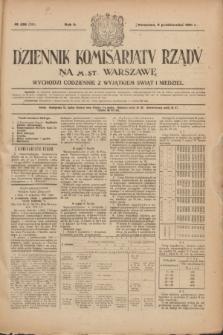 Dziennik Komisarjatu Rządu na M. St. Warszawę.R.2, № 225 (6 października 1921) = № 352