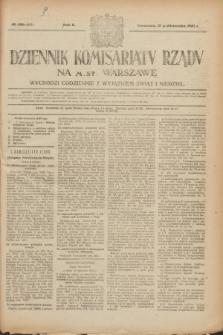 Dziennik Komisarjatu Rządu na M. St. Warszawę.R.2, № 230 (12 października 1921) = № 357