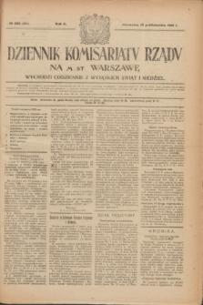 Dziennik Komisarjatu Rządu na M. St. Warszawę.R.2, № 233 (15 października 1921) = № 360