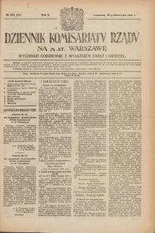 Dziennik Komisarjatu Rządu na M. St. Warszawę.R.2, № 235 (18 października 1921) = № 362
