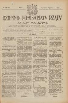 Dziennik Komisarjatu Rządu na M. St. Warszawę.R.2, № 236 (19 października 1921) = № 363