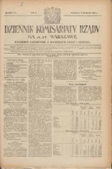 Dziennik Komisarjatu Rządu na M. St. Warszawę.R.2, № 248 (3 listopada 1921) = № 375