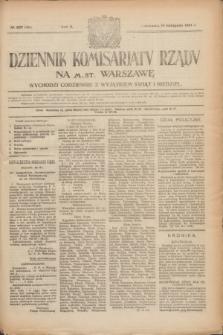 Dziennik Komisarjatu Rządu na M. St. Warszawę.R.2, № 257 (14 listopada 1921) = № 384