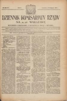 Dziennik Komisarjatu Rządu na M. St. Warszawę.R.2, № 258 (15 listopada 1921) = № 385
