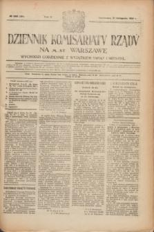 Dziennik Komisarjatu Rządu na M. St. Warszawę.R.2, № 263 (21 listopada 1921) = № 390