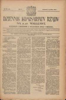 Dziennik Komisarjatu Rządu na M. St. Warszawę.R.2, № 273 (2 grudnia 1921) = № 400