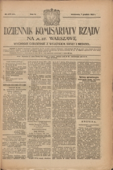 Dziennik Komisarjatu Rządu na M. St. Warszawę.R.2, № 277 (7 grudnia 1921) = № 404