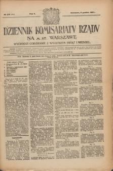 Dziennik Komisarjatu Rządu na M. St. Warszawę.R.2, № 278 (9 grudnia 1921) = № 405