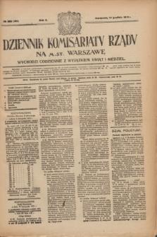 Dziennik Komisarjatu Rządu na M. St. Warszawę.R.2, № 282 (14 grudnia 1921) = № 409