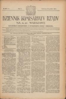 Dziennik Komisarjatu Rządu na M. St. Warszawę.R.2, № 289 (22 grudnia 1921) = № 416
