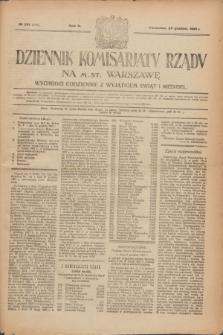 Dziennik Komisarjatu Rządu na M. St. Warszawę.R.2, № 291 (27 grudnia 1921) = № 418
