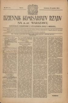 Dziennik Komisarjatu Rządu na M. St. Warszawę.R.2, № 294 (30 grudnia 1921) = № 421