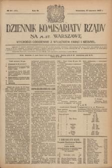 Dziennik Komisarjatu Rządu na M. St. Warszawę.R.3, № 141 (27 czerwca 1922) = № 473